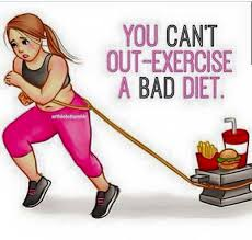 Image result for you can't out train a bad diet